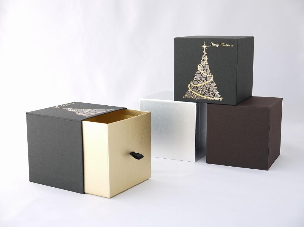 クリスマス柄引き出しギフトボックス