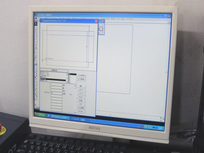 CAD製図画面